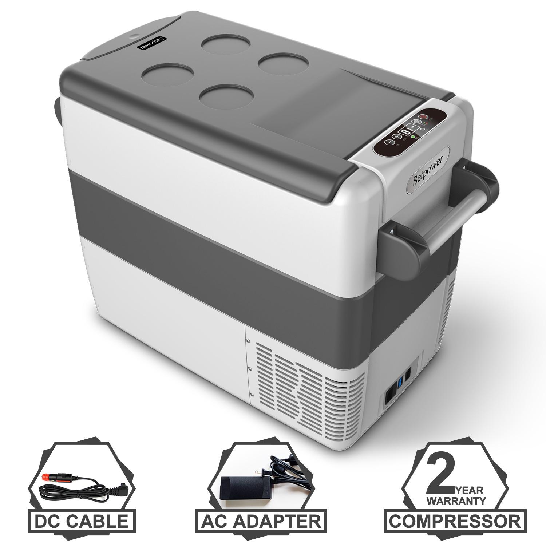 Setpower AJ50 53 Quarts Portable Freezer Fridge 12V Cooler AC 110-240V Patio Picnic Car Fridge Compact Refrigerator BBQ for Truck RV Road Trip DC 12//24V Van Camping 0℉-50℉ Outdoor